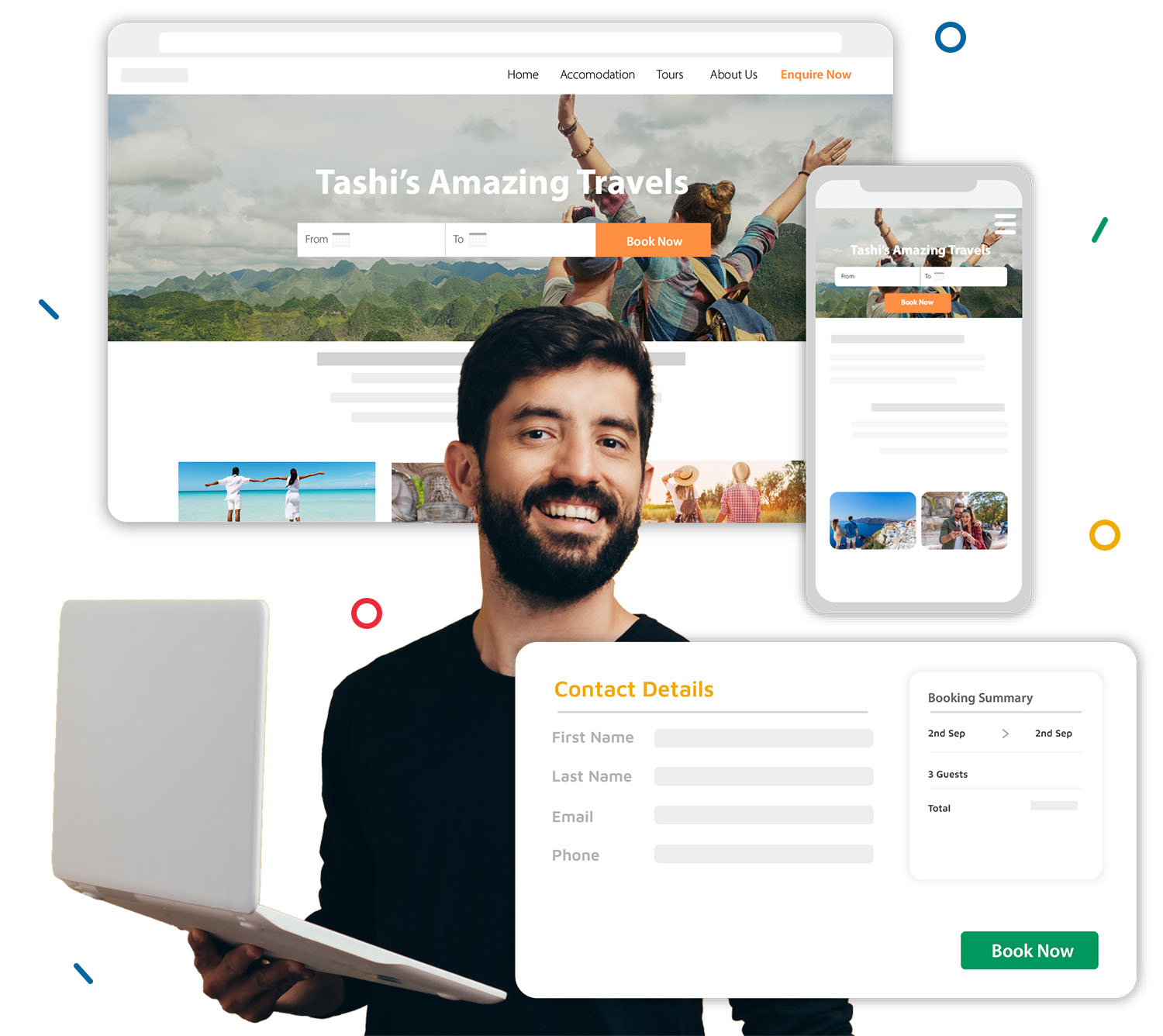 Tashi Website Builder for Tour Operators and Accommodation providers